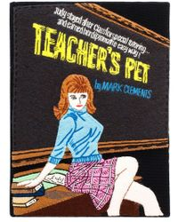Olympia Le-Tan - Black Teacher's Pet Embroidered Felt Clutch - Lyst