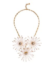 Ted Baker | White Floria Flower Starburst Necklace | Lyst