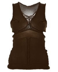 Mark Fast | Brown Knitted Corset | Lyst