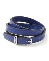 Banana Republic | Blue Leather Triple-wrap Bracelet | Lyst