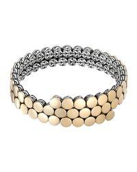 John Hardy | Metallic Dot 18k Gold & Silver Coil Bracelet | Lyst
