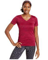Nike | Purple V-neck Legend Short-sleeve Tee | Lyst