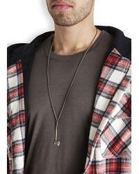 Vitaly | Metallic Sequoia Bronze Tone Axe Necklace for Men | Lyst