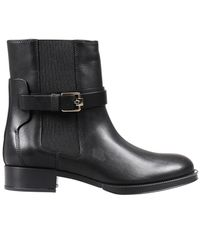 Tod's | Black Gomma Suede Ankle Boots | Lyst