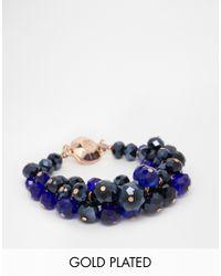 Ted Baker - Blue Bead Cluster Bracelet - Lyst