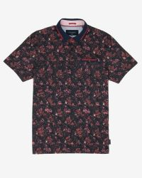 Ted Baker | Red Tropical Leaf Print Polo Shirt for Men | Lyst