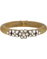 Munnu - Metallic Torque Bangle - Lyst
