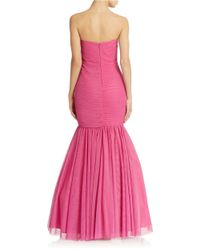 JS Collections | Purple Ruched Mermaid Gown | Lyst