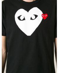 Play Comme des Garçons   Black Heart Print T-Shirt for Men   Lyst