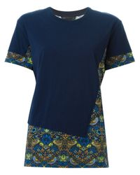 Marc By Marc Jacobs - Blue Strawberry Thief Print Panel T-shirt - Lyst