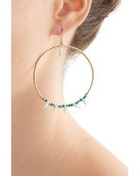 Aurelie Bidermann - Blue Kreolen Squaw Turquoise-pearl Earrings - Lyst