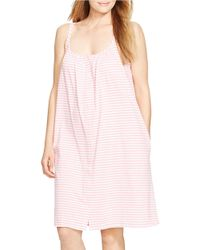 Lauren by Ralph Lauren | Pink Priya Knits Short Nightgown | Lyst