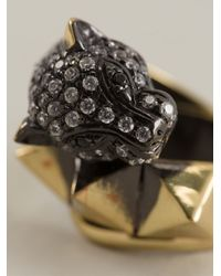 Iosselliani - Metallic 'Bohemian Dark Knight' Cheetah Ring - Lyst