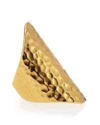 Devon Leigh | Metallic 18k Gold Dipped Hammered Ring | Lyst
