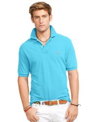 Polo Ralph Lauren | Blue Classic-Fit Mesh Polo Shirt for Men | Lyst