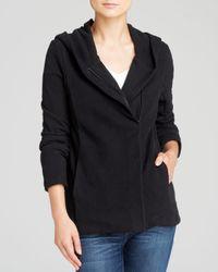 James Perse - Black Jacket Hooded Fleece Zip - Lyst