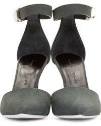 Proenza Schouler | Gray Grey Suede Pointed Pumps | Lyst