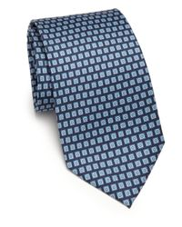 Ferragamo | Blue Gancini Silk Tie for Men | Lyst