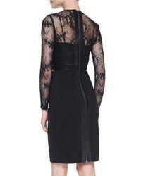 Catherine Deane - Black Vinita Long-sleeve Lace Cocktail Dress - Lyst