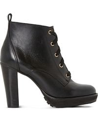 Dune - Black Onslow Leather Ankle Boots - Lyst