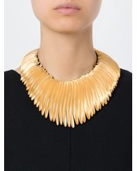Monies - Yellow Beaded Choker Necklace - Lyst