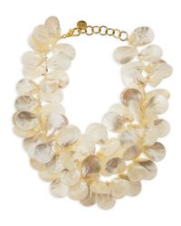 Nest | Metallic Mother-Of-Pearl Petal Necklace | Lyst