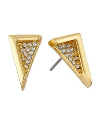 Vince Camuto | Metallic Edge Of Elegance Triangle Stud Earrings | Lyst