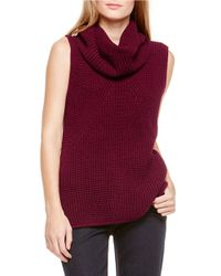 Two By Vince Camuto | Red Waffle-stitched Turtleneck | Lyst