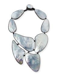Viktoria Hayman | Metallic Mother-of-pearl Statement Necklace | Lyst