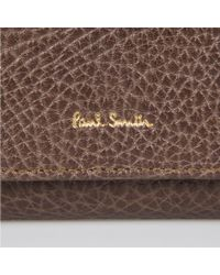 Paul Smith | Women's Brown And Damson Tri-fold Purse With Taupe Interior | Lyst