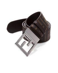 Fendi | Brown Zucca Logo Messenger Belt for Men | Lyst