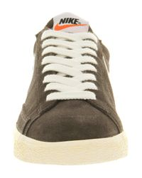 Nike Gray Blazer Low Vintage Night Stadium Strata Grey for men