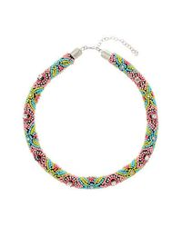 TOPSHOP | Multicolor Multi Bead Rope Collar | Lyst