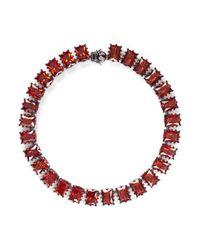 Eddie Borgo | Red Large Rectangle Estate Cubic Zirconia Bracelet | Lyst