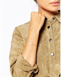 Pieces - Metallic Olina Bracelet - Lyst