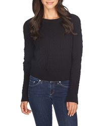 1.STATE | Black Mixed Knit Sweater | Lyst