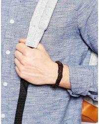 ASOS - Brown Leather Bracelet for Men - Lyst