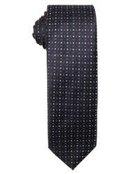 Prada - Blue Silk 'microdisegni' Microdiamond Print Silk Tie for Men - Lyst