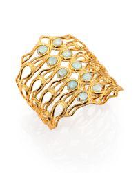 Alexis Bittar | Metallic Amazonite Doublet Aigrette Cuff Bracelet | Lyst