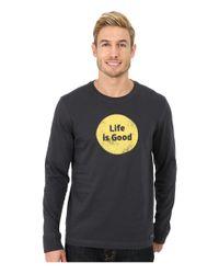 Life Is Good. - Black Crusher Long Sleeve Tee for Men - Lyst