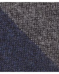 Bottega Veneta - Blue Navy Dark Grey Wool Silk Tie for Men - Lyst