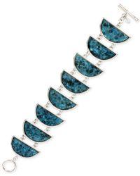 Kenneth Cole - Metallic Silver-tone Shell Crescent Bracelet - Lyst
