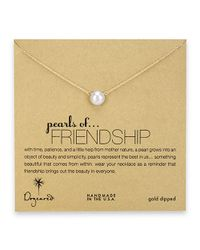 Dogeared | Metallic Pearls Of Friendship Gold Dipped Neclace | Lyst