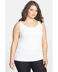 Eileen Fisher | White Long Silk Tank | Lyst