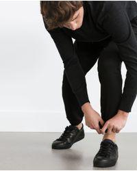 Zara | Black Knit Jogging Trousers for Men | Lyst