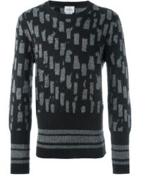 Vivienne Westwood - Black Intarsia Knit Sweater for Men - Lyst