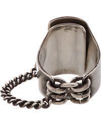 Ann Demeulemeester - Metallic Antiqued Silver Locking Ring for Men - Lyst