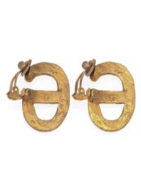 Hermès | Metallic HermãˆS Clip-On Earrings | Lyst