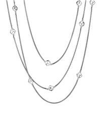 "David Yurman - Metallic Dy Logo Six-station Chain Necklace, 72"" - Lyst"
