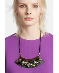 Marni | Black Oversize Jewel Necklace | Lyst